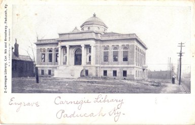 2-Carnegie Library. Cor. 9th and Broadway, Paducah, K.