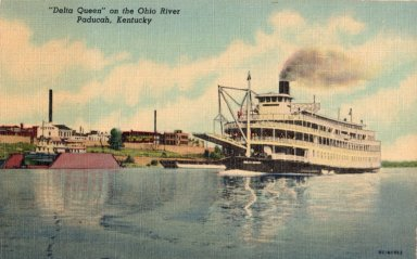 """Delta Queen"" on the Ohio River Paducah, Kentucky"