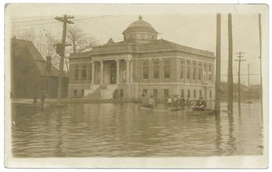 1913 Flood, Carnegie Library