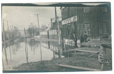 1913 Flood, New Gas Plant Co. 2nd & Monroe
