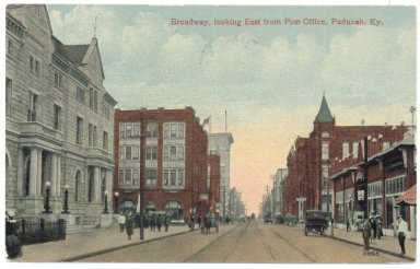 Broadway, looking East from Post Office, Paducah, Ky.