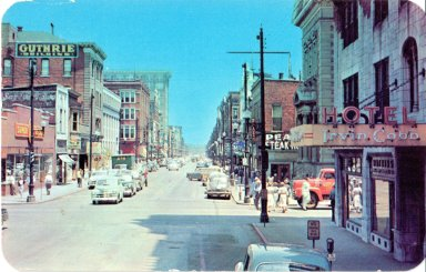 Broadway, Looking East from Sixth Street, Paducah, KY