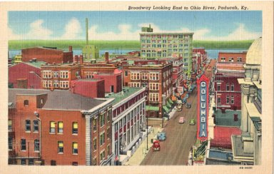 Broadway, Looking East to Ohio River, Paducah, Ky.