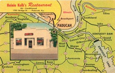 Heine Kolb's Restaurant, Air Conditioned, 1701 Bridge St. Paducah, Ky.
