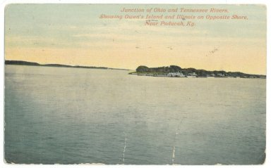 Junction Ohio and Tennessee Rivers, Showing Owen's Island and Illinois on Opposite Shore. Near Paducah, Ky.