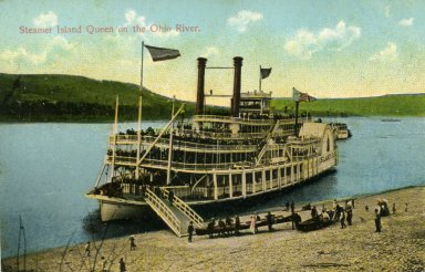 Steamer Island Queen on the Ohio River.
