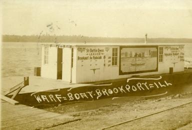 Wharf boat at Brookport, IL