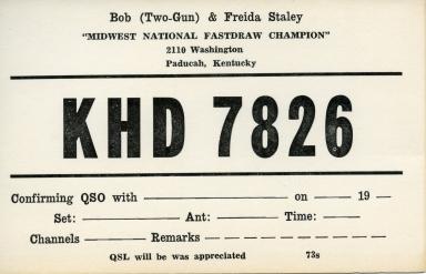 Ham radio operator KHD 7826 in Paducah (KY)