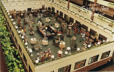 Aerial view of restaurant at Executive Inn in Paducah (KY)