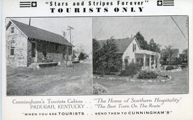 Cunningham's Tourist Cabins on North 13th Street in Paducah (KY)