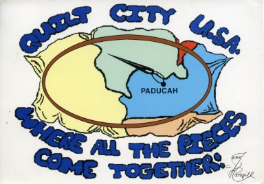 Promotional post card for Quilt City USA, Paducah (KY)