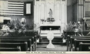 Altar of St. Paul Evangelical Lutheran Church in Paducah (KY)
