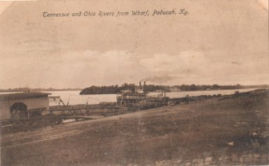 Tennesee and Ohio Rivers from Wharf, Paducah, KY