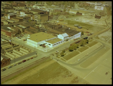 Aerial photograph of Downtown Paducah