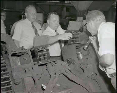 Employees and Locomotive Component