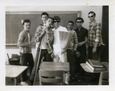 Clean-up day at Heath High School in 1967