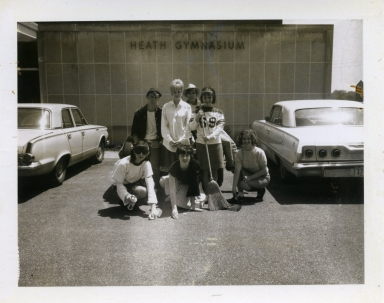Clean-up day at Heath High School in 1968