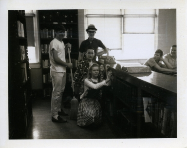 Clean-up day at Heath High School in 1969