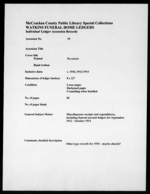 Watkins Funeral Home Records Book 27