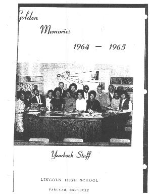 Lincoln High School Golden Memories 1964 - 1965