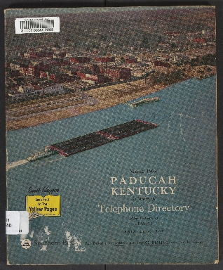 Southern Bell Telephone and Telegraph Co. Telephone Directory for Paducah, KY, Symsonia, Heath, Exchange of Ballard Rural Telephone Corporation, Inc., March 1962