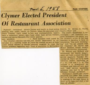 Restaurant Association Elects President