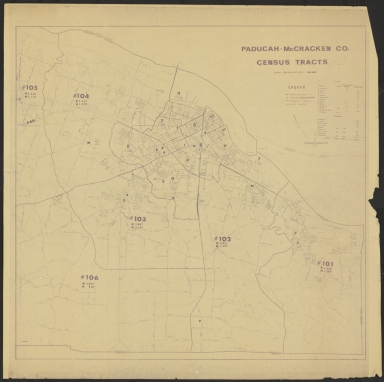 Paducah-McCracken County (KY) Census Tracts 1970