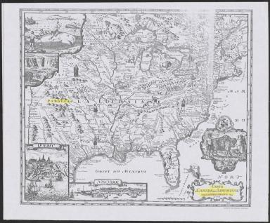 Carte du Canada et de la Louisiane 1695