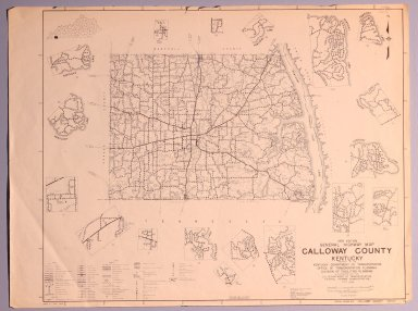 1978 General Highway Map Calloway County