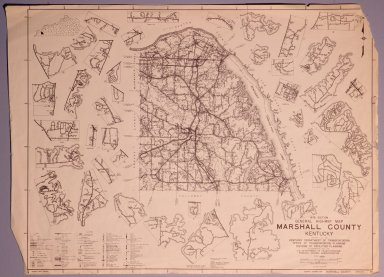 1978 Marshall County Highway Map