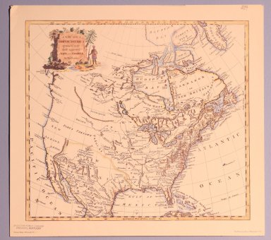 A New Map of North America - Thomas Conder
