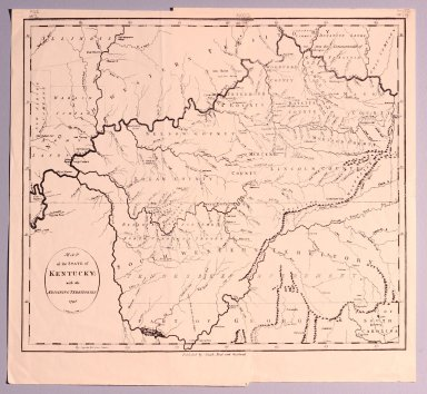 Map of the State of Kentucky with the Adjoining Territories 1798