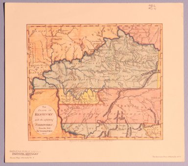 The State of Kentucky with adjoining territories from the best authorities 1800
