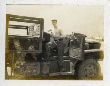 Robert on the truck