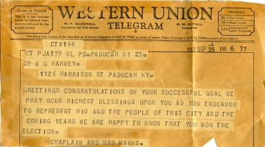 Congratulatory Telegram