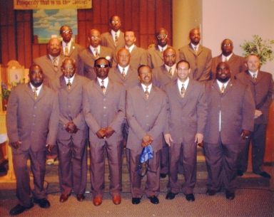 Group of Men in Greater Love Baptist Church