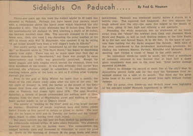 Newspaper article on big snow of 1917-1918