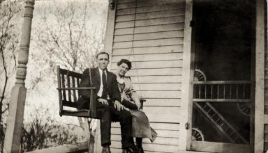 John E Griffith with horse Preacher Dick