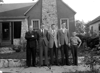 Marriage of J W Cooper and Laura Griffith Cooper with Harlan and Velda Lockhart, far left and far right