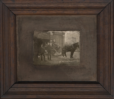 Unknown men with horse and buggy