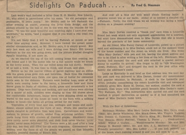 Newspaper article on history of Eden's Hill in Paducah (KY)