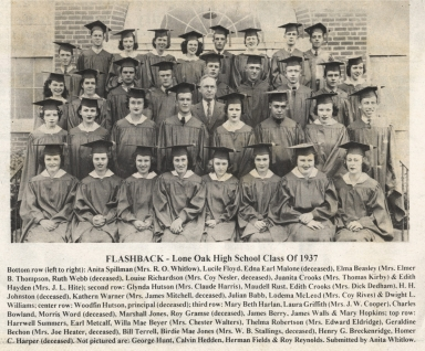 Reunion of Lone Oak High School class of 1937