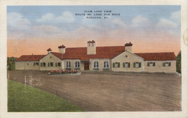 Front of Lakeview Country Club postcard