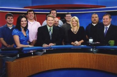 Morning report news and studio crew
