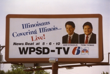 Billboard outside Illinois Bureau