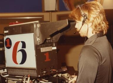 Studio cameraman Rodney Holmes