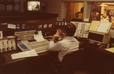 Director Bob Fesmire in station control room