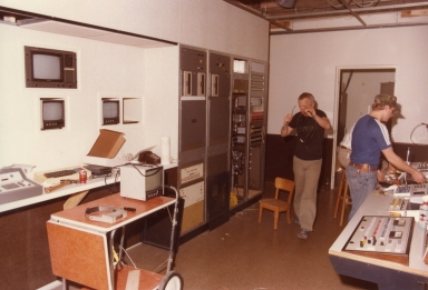 Engineers in station control center