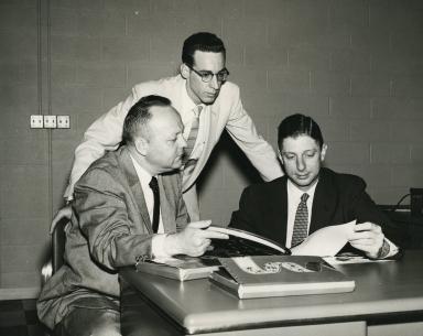 "C.R. ""Buck"" Jones, Billy Turner and general manager Sam Livingston"