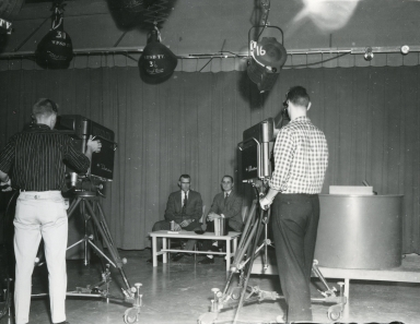 Bob Swisher doing interview in studio